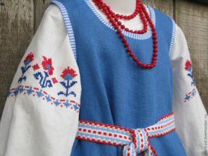 Вышивка в русском народном костюме
