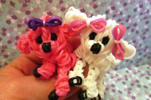 Плетение животных из резинок на рогатке