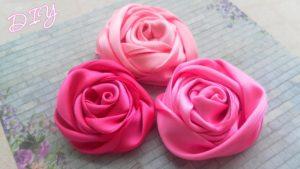 Простая роза-плиссе