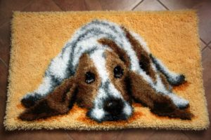 Узелковая вышивка в ковровой технике